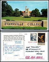INDIANA Postcard - Evansville College M14