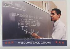 2008 Topps President Collector Trading Cards #18 Welcome Back Obama Card 0b7