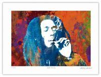 Bob Marley Pop Art Giclée Limited Edition Art Print by Artist Stephen Chambers