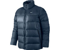 Nike Men's Navy 550 Duck Down Fill Bomber Thermal Jacket 419008-449 Size L