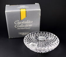 "Vintage Gorham Lead Crystal Sundial Candle Holder 4"" C374 Crystalites NEW"
