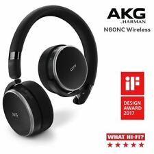 AKG N60NC Noise Cancelling, Wireless Bluetooth, Compact Headphones  - Black (A)