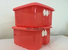 2 x BRAND NEW TUPPERWARE FRIDGESMART Small with reference chart - Scarlett Color