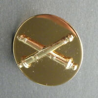 US ARMY FIELD ARTILLERY GOLD COLORED LAPEL HAT PIN BADGE 1 INCH