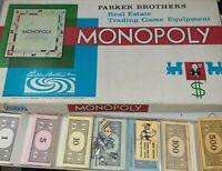 Vintage 1961 Monopoly Parker Brothers Board Game Complete