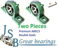 NEW  SUCSFL204-20MM  20MM Stainless Steel 2 Bolt Flange Bearing    MUCFL204