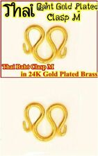 22K 23K 24K Thai Baht Gold Plated Brass Clasp M for Chain Necklace
