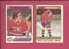 1977-78 OPC Lot of 2 Montreal Canadiens HOFs: K. DRYDEN + G. LAFLEUR  med-hi g