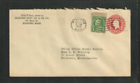 1934 MILFORD MASS ELECTRIC LIGHT & POWER CO ADVERTISING COVER STAMPED ENVELOPE