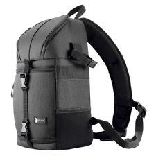 DSLR Camera Sling Cross Bag Case Soft Padded Backpack Waterproof Purple