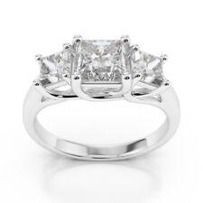 2.00 Ct Princess Cut Diamond Engagement Ring 14K Real White Gold Size I J K L M