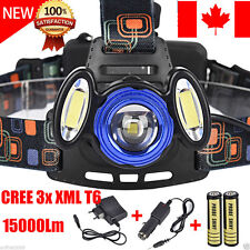 15000LM CREE 3x XML T6 LED Headlamp Headlight Flashlight Head Light 18650 CA