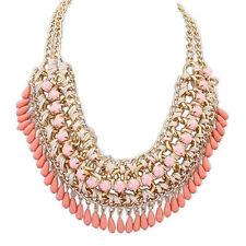 Fashion Jewelry Chain Pendant Charm Crystal Choker Chunky Statement Bib Necklace