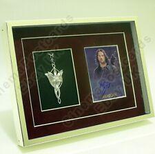 Lord of Rings OFFICIAL Viggo Mortensen Autograph card. w/Evenstar-Style Pendant