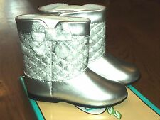 New Baby Deer silver causal fashion boots,toddler 8,NIB