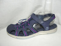 LANDS' END Shoes Women's Size 10B Navy Blue Sports Sandals Slip On Hiking Flats
