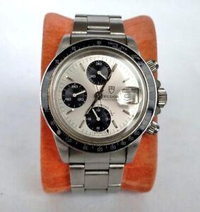 Tudor Big Block 94200- Rare Model- Bakelite Bezel- Vintage 1980s Chronograph
