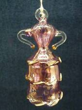 Hand Blown Egyptian Glass Museum 24K Gold Trim Dress Ornament One of Kind (o1065