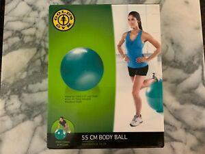 ✨Gold's Gym 55cm Anti-Burst Exercise Body Ball 55cm W/pump✨