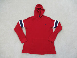 Ralph Lauren Polo Sweater Youth Large Red Blue Hoodie Pullover Boys Kids A22