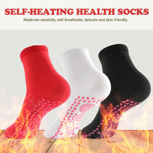 3 Pairs Self Heating Socks Tourmaline Magnetic Therapy Massage Warm Foot Socks