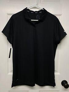 Nike Golf #884871 Women's S/S Dri-Fit Polo Shirt: XXL, Black, Logo, NWT