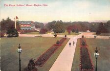 Dayton Ohio c1908 Postcard The Plaza Soldiers Home