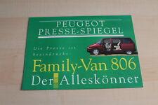 87260) Peugeot 806 - Pressespiegel - Prospekt 1994