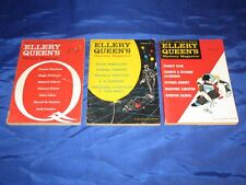 3 Ellery Queen Mystery Magazines Sept 1959 Jan Feb 1960 Woolrich Proctor VG