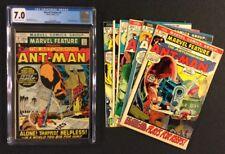 MARVEL FEATURE #4 Comic CGC 7.0 + 5 - 10 1st ANT-MAN Vintage 1972 Fine SpiderMan
