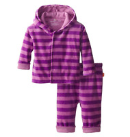 Magnificent Baby Baby Girls' Pink Lavender Velour Hoodie and Pants 12m