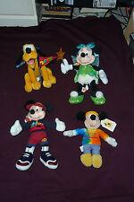 Lot of 4 Disney Theme Park Edition Plush Figures W/Tags Mickey Minnie Pluto