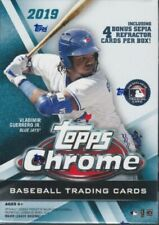 Topps Chrome  4 Cards Sepia Refractors Baseball Retail Blaster Box - 8 Pieces (2019)