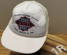 VINTAGE SUPER BOWL XXII 1988 JACK MURPHY STADIUM TRUCKERS STYLE HAT GOOD COND