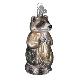 Old World Christmas RACCOON (12146)N Glass Ornament w/ OWC Box