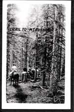 VINTAGE PHOTOGRAPH 1917-25 TRAIL TO MT. EVANS HORSES DENVER COLORADO OLD PHOTO
