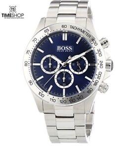Hugo Boss Blue Dial Stainless Steel Chronograph Quartz Men's Watch 1512963