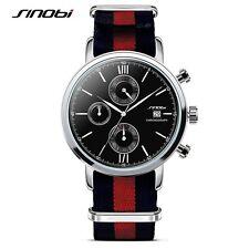 007 James Bond Mens Sport Chronograph Military Nylon Wrist Watches Luxury Brand