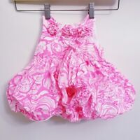 NWOT Lilly Pulitzer Girls 6-12 Month Pink & White Bubble Hem Dress