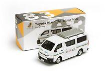 TINY Hong Kong #83 Toyota Hiace TVB News Van White 7CM Diecast Model Toy Car