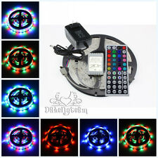 5M 3528 RGB LED Strip Light 300leds + 44key IR Remote Control+ 2A Power Supply