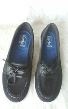 KEDS Ortholite Glimmer Women's Lace Up Boat Shoes Black Textile Size 7