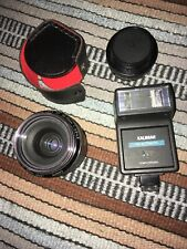 Lot 3 Camera Accessories Kalimar Automatic Flash 2x Converter Canon Zoom Lens
