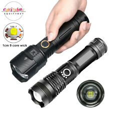 XHP50.2/100 LED Flashlight 26650/18650 Most Powerful USB Rechargeable Zoom Torch