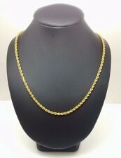 Unisex Rope Chain 14ct (585, 14K) Yellow Gold Medium Rope Chain