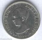 Alfonso XIII 1 Peseta 1891 Pelon @ Excepcional @