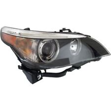 For 530xi 06-07, Passenger Side Headlight, Clear Lens; Black Interior