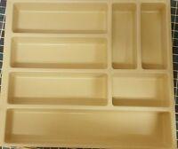 Kitchen Cutlery Organiser Beige Drawer Divider Storage Tray 7 Compartment 500mm