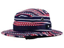 DC Shoes Navy White Red Bucket Cap DC Sun Hat size L/XL $35
