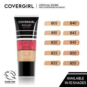 CoverGirl Outlast Active Foundation SPF 20 24hr Makeup Pick A Shade 1 oz Tubes